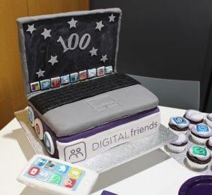 Digital Friends 100 cake