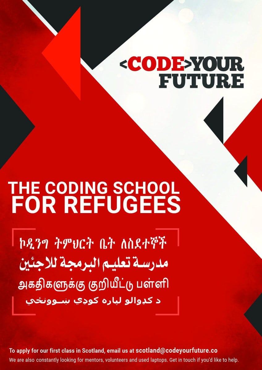 Future for CodeYourFuture's programming course for refugees and asylum seekers