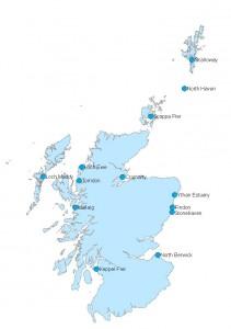 Map of coastal monitoring stations