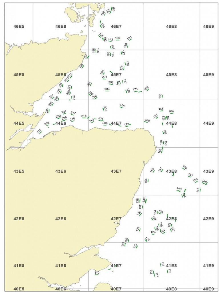 Alba 1014A Map - East Coast Scallop Survey 2014