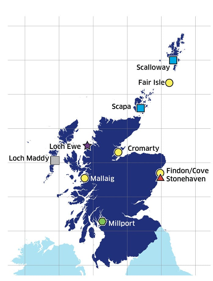 SCObs monitoring stations