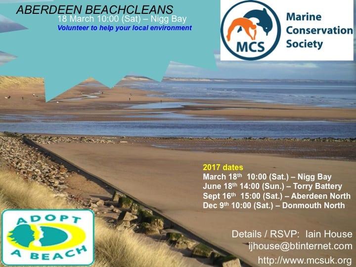 Aberdeen MCS 2017 beachcleans
