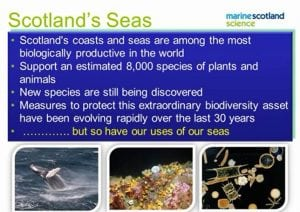 Scotland's Seas presentation slide