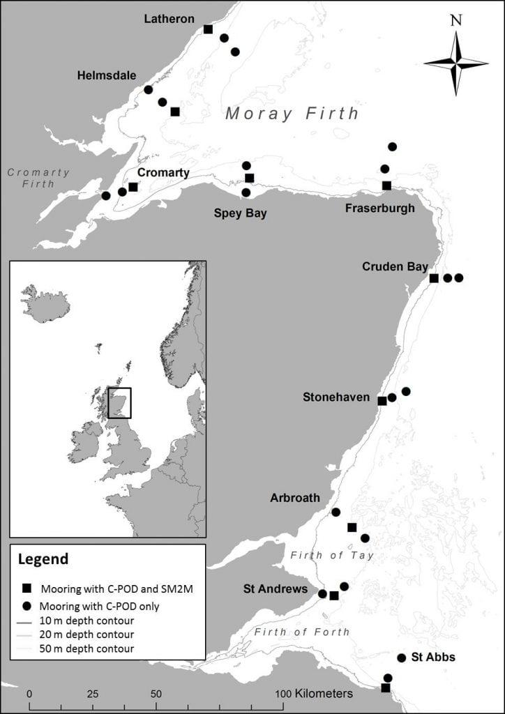 Figure 2 Locations of JOMOPANS Moorings