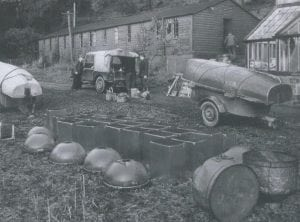 Picture 2 Original wooden huts used for the BTRS in 1948