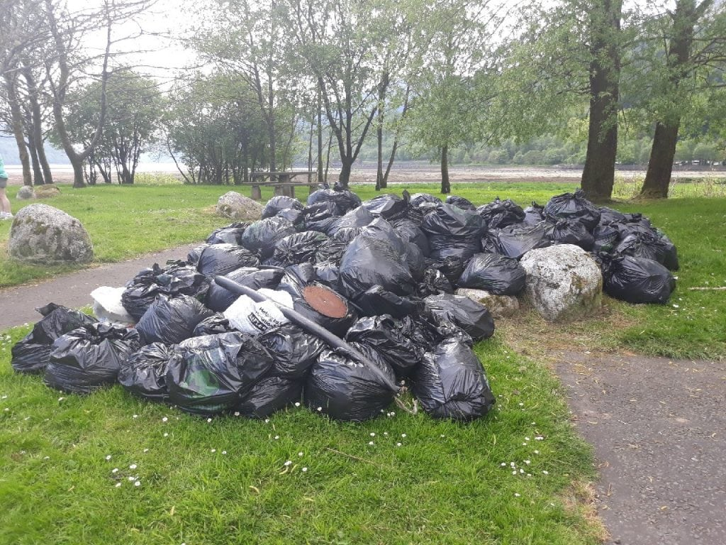 Arrochar May 2018 - Day 3 - Rubbish pile