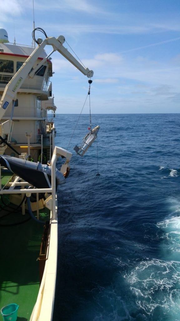 Deploying the Gulf 7 plankton sampler on Hatton Bank - 0118H Survey
