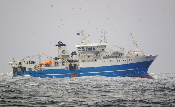 Scotia at Sea