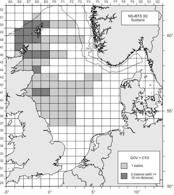 1118S Figure 2 2018 IBTS Quarter 3 Proposed Survey Grid – Scotland