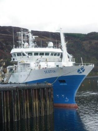Scotia in berth at Ullapool for blog 1218S