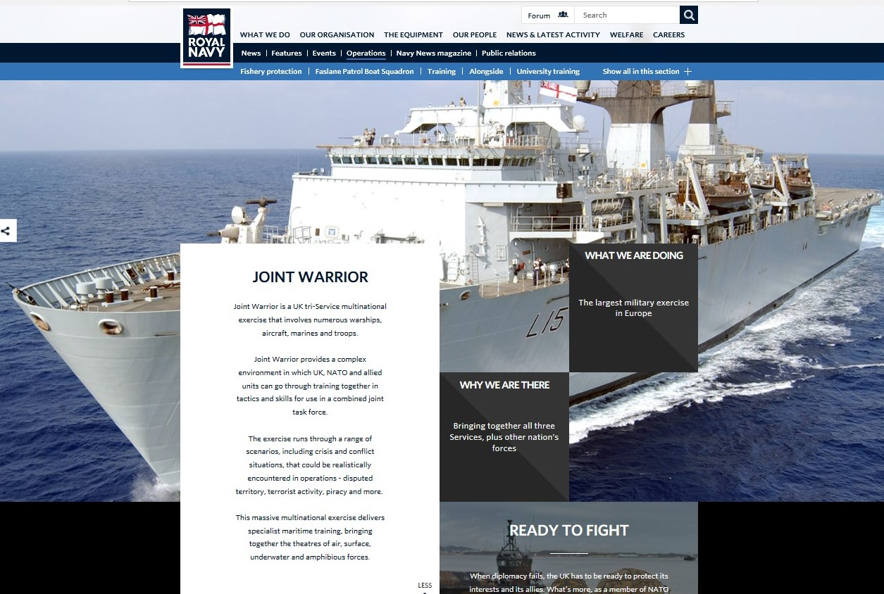 Joint Warrior training exercise 2019