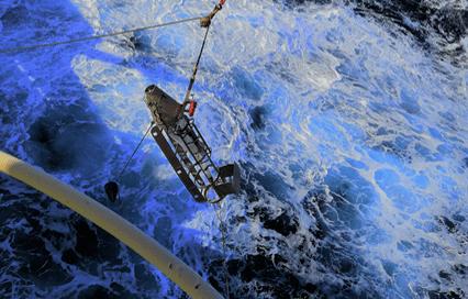 0219H Gulf VII Sampler being deployed