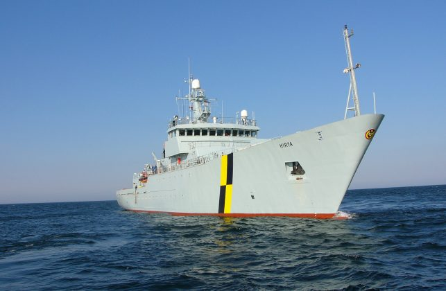 Marine protection vessel Hirta. Crown copyright