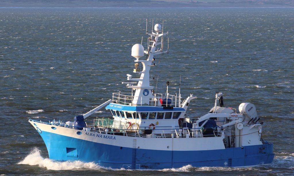 MRV Alba na Mara at sea. Crown Copyright