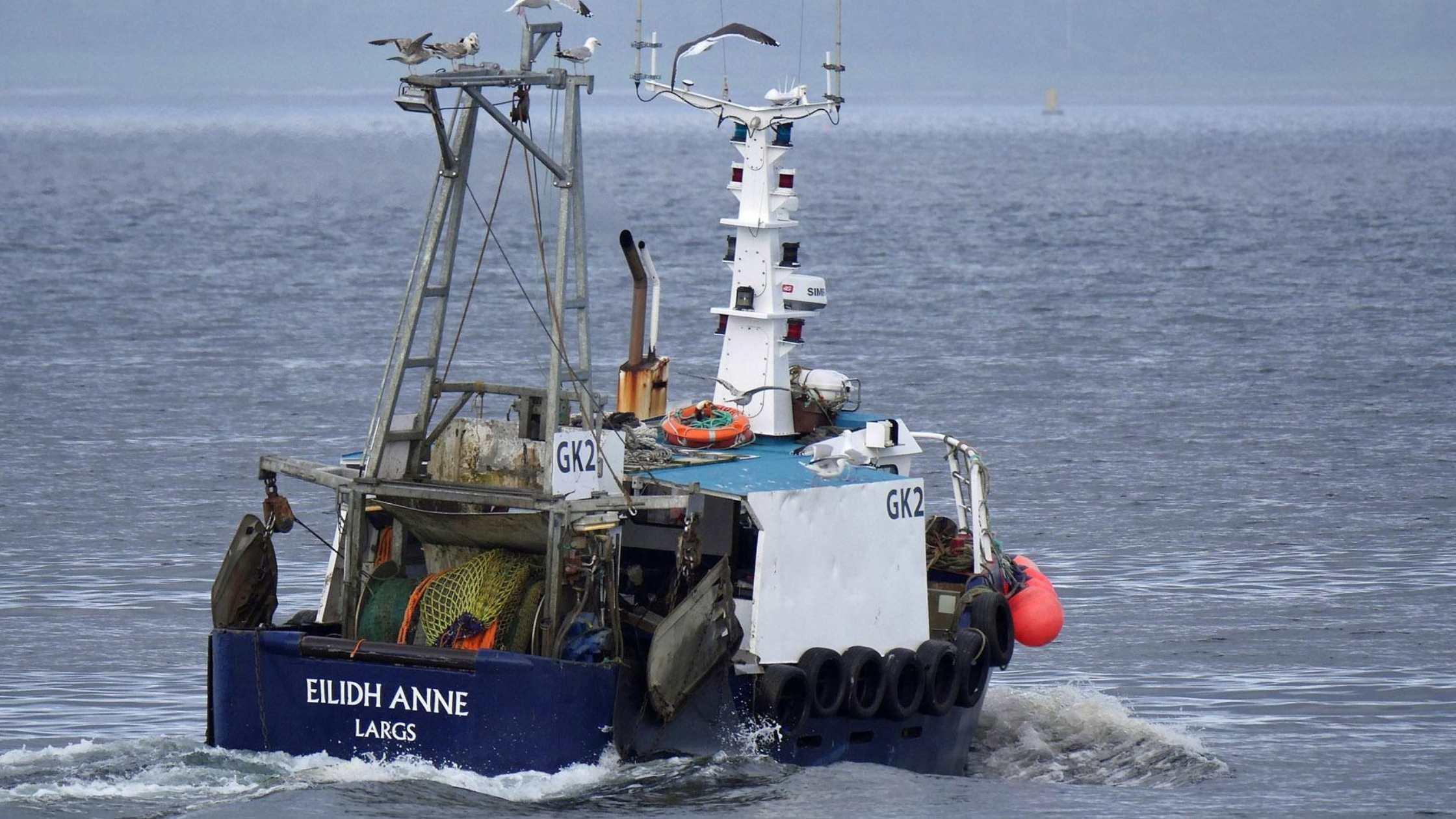 Eilidh Anne at sea