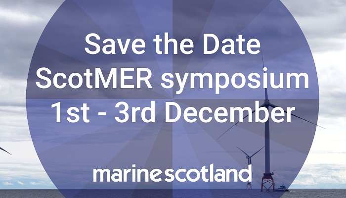 Panel describing to Save the Date for the ScotMER Symposium 1st - 3rd December