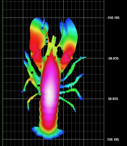 A 3D image of a lobster produced by the AS3ID Scanner. Copyright: SeaScope Fisheries Research.