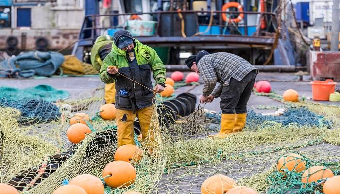Fishermen working in Peterhead