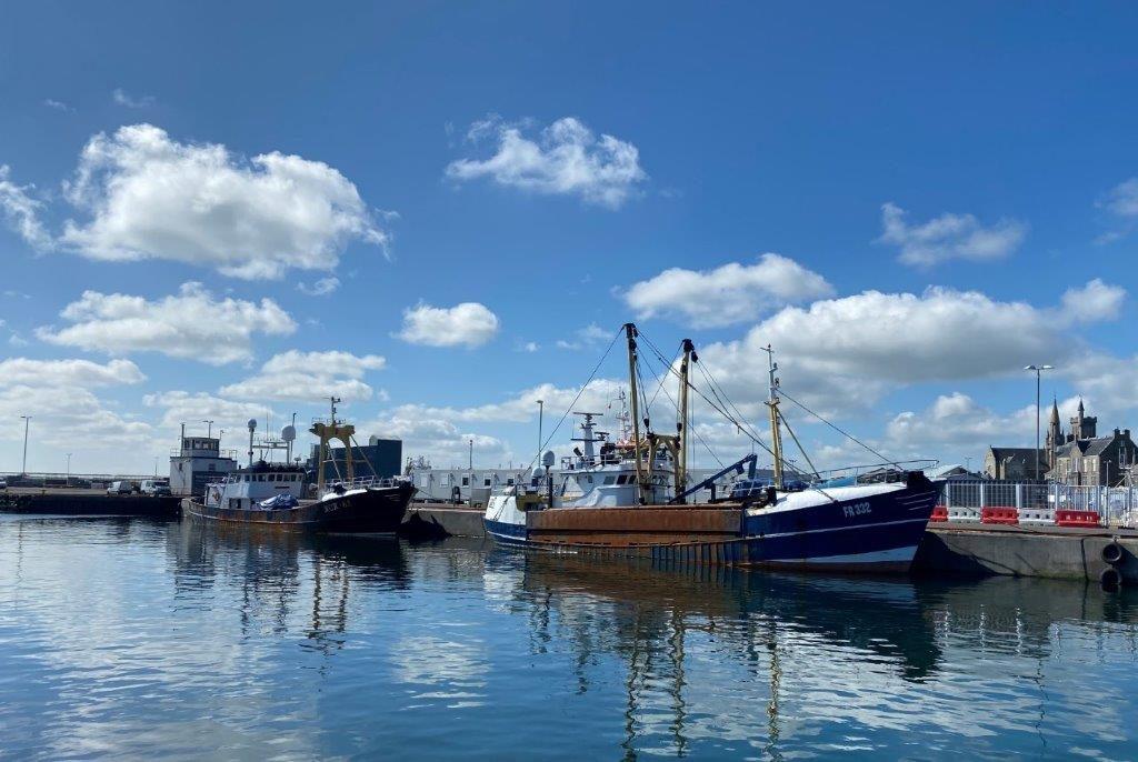 Scallop dredge vessels in NE Scotland 2021