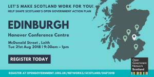 Edinburgh event advert