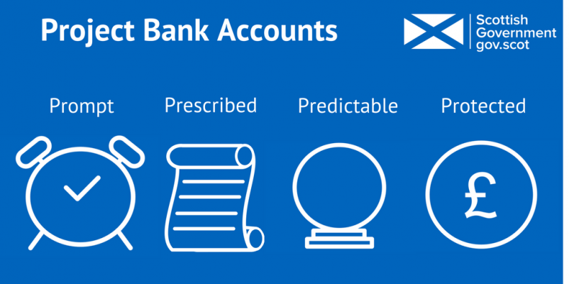 Overview of project bank accounts