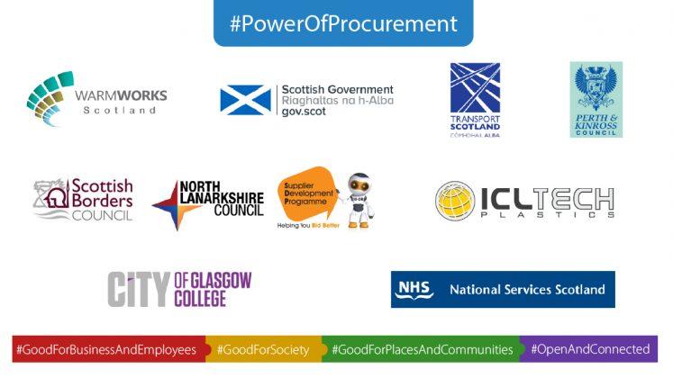 Logos of Scottish finalists at UK National GO Awards