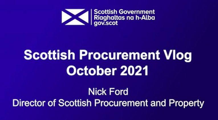 Scottish Procurement Vlog October 2021