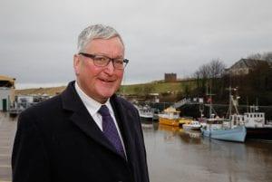 Fergus Ewing at Eyemouth Harbour