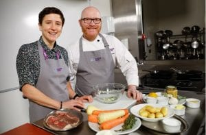 Minister for Rural Affairs Mairi Gougeon (left) with Gary Maclean, Scotland's National Chef (right)