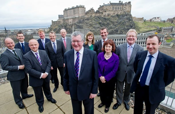 Energy Minister Fergus Ewing, representatives from other political parties and members of the Edinburgh Green Investment Bank Group